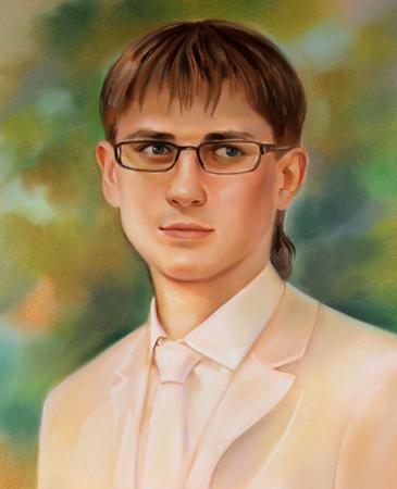 Портрет маслом на холсте – это